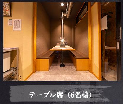 大垣焼肉えんわや鶴見店 テーブル(6名)